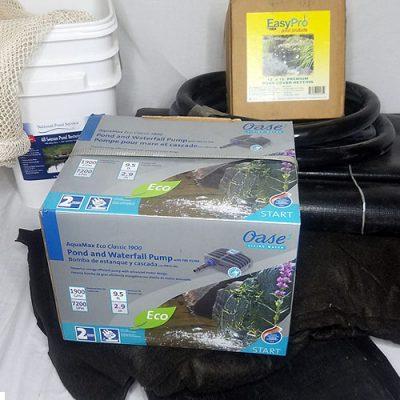 pond maintenance water filtration system kit